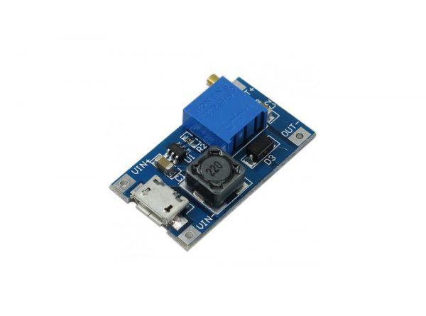 رگولاتور dc dc افزاینده 2 آمپر با ورودی میکرو usb ارکید استور