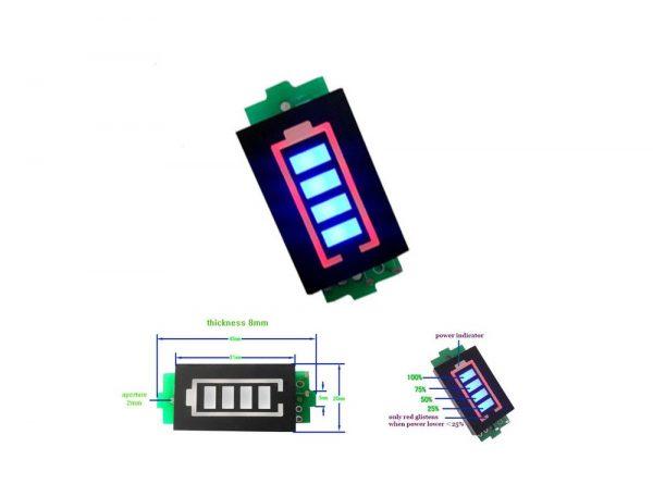 سگمنت سطح شارژ باترى لیتیم سه سل 126v ارکید استور