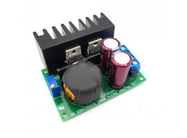 مبدل dc dc افزاینده ولتاژ 150w مدل tl494 با امکان کنترل جریان خروجی 4 ارکید استور