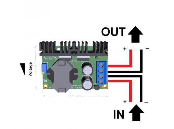 مبدل dc dc افزاینده ولتاژ 150w مدل tl494 با امکان کنترل جریان خروجی 6 ارکید استور