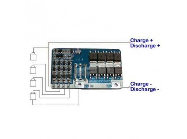 محافظ شارژ باتری لیتیومی 4 سل 20a 1 ارکید استور
