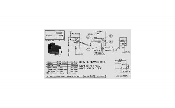 آداپتوری مادگی مشکی استاندارد dc 005 قطر پین 20mm 2 ارکید استور