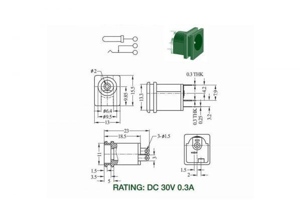آداپتور روپنلی مدل dc 015a 2 ارکید استور