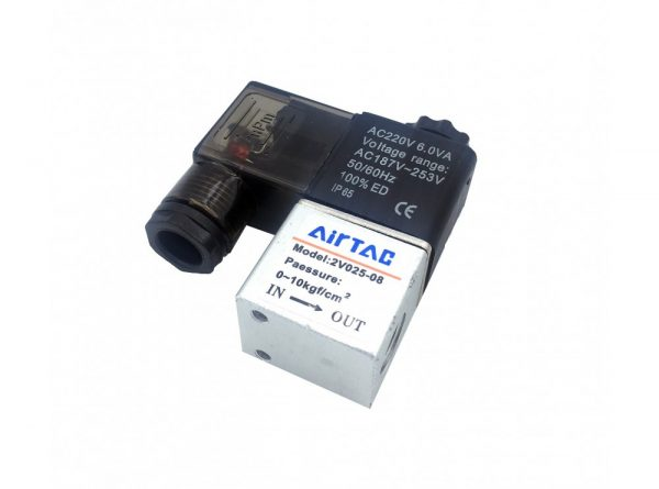 سلونوئیدی پنوماتیک airtac مدل 2v025 08 2 ارکید استور