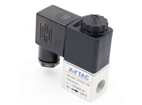 سلونوئیدی پنوماتیک airtac مدل 2v025 08 4 ارکید استور