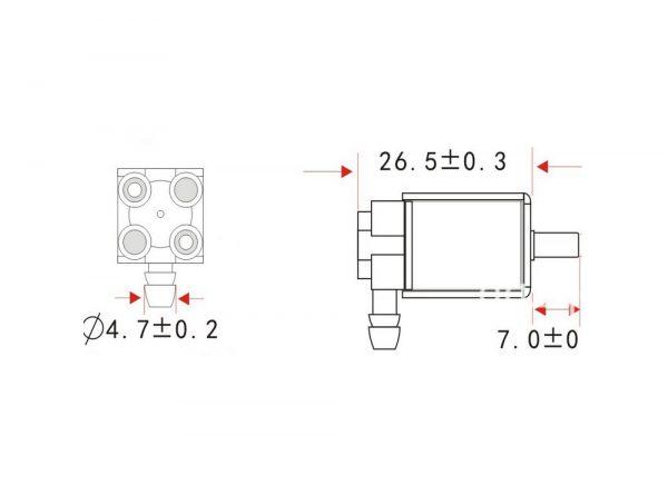 برقی سلونوئیدی پنوماتیک سه راه 6 ولت fa0520e 1 ارکید استور