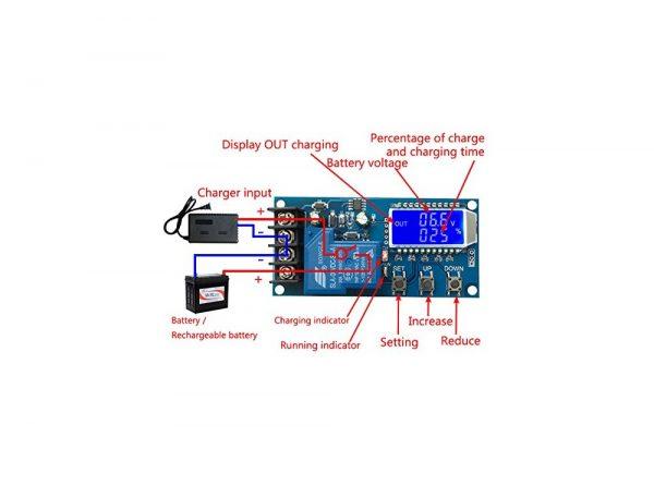 کنترل شارژ باتری دیجیتال 6 الی 60 ولت مدل xy l30a 1 ارکید استور