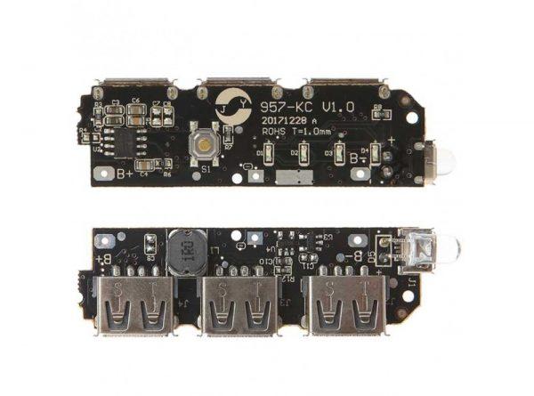 پاوربانک سه خروجی usb به همراه برد 5 باتری 4 ارکید استور