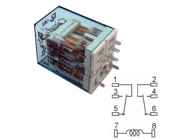 شیشه ای 48vdc تایوانی مارک rayex کد lb2 48dp 2 ارکید استور