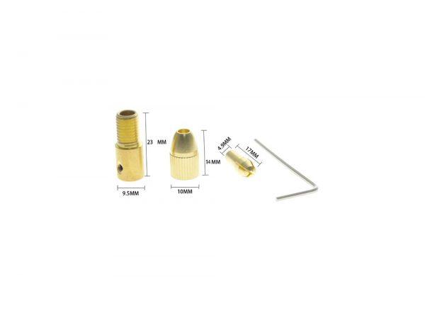 سه نظام پنج سر با قطر شافت 5mm و سایز مته 08 تا 3mm 1 ارکید استور