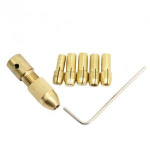 سه نظام پنج سر با قطر شافت 5mm و سایز مته 08 تا 3mm 2 ارکید استور