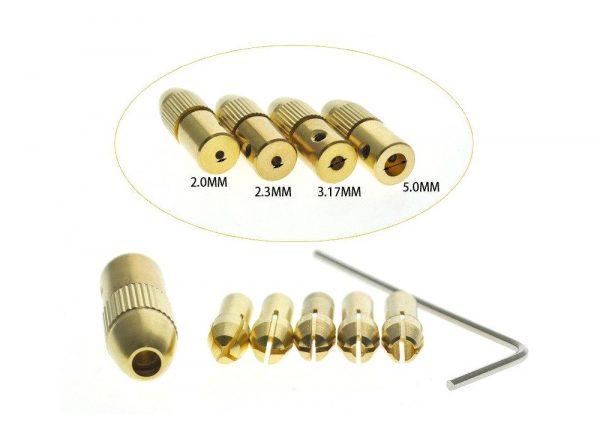سه نظام پنج سر با قطر شافت 5mm و سایز مته 08 تا 3mm ارکید استور
