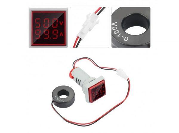 سیگنال با ولتمتر و آمپرمتر روپنلی مدل ad16 22fva 10 ارکید استور