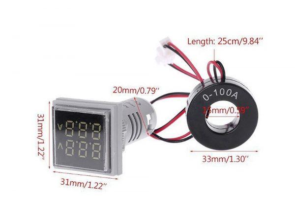 سیگنال با ولتمتر و آمپرمتر روپنلی مدل ad16 22fva 3 ارکید استور