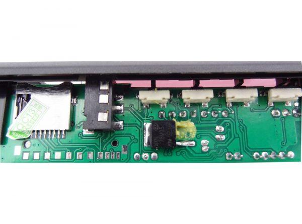کننده 12v پنلی mp3 پشتیبانی از microsd و usb با ریموت کنترل 3 ارکید استور