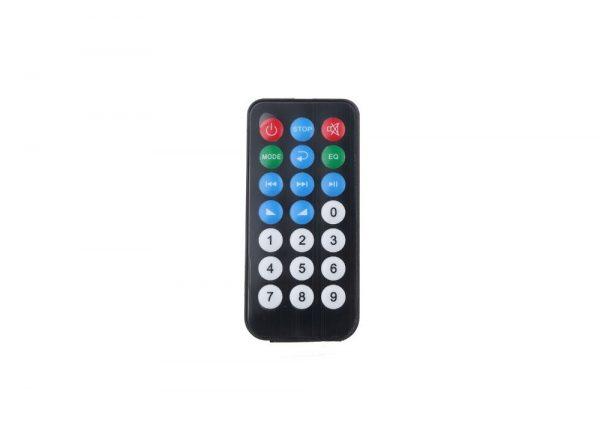 کننده 12v پنلی mp3 پشتیبانی از microsd و usb با ریموت کنترل 5 ارکید استور