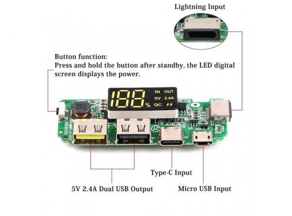 ساخت پاوربانک دارای نمایشگر h961 8 ارکید استور