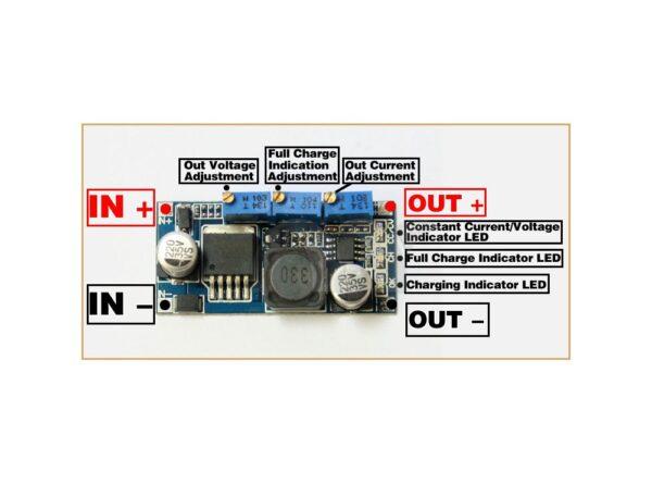 مبدل dc dc کاهنده lm2596 با امکان کنترل جریان خروجی 1 ارکید استور