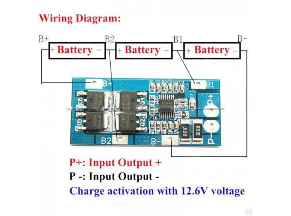 محافظ شارژ باتری لیتیومی 3 سل 10a مدل d01 1 ارکید استور