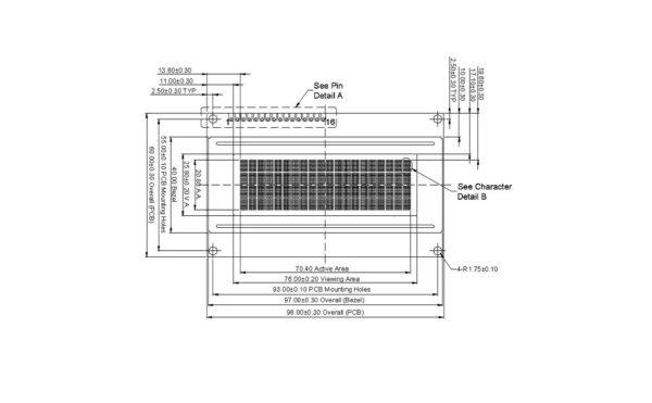 lcd کاراکتری 4x20 بک لایت آبی ارکید استور