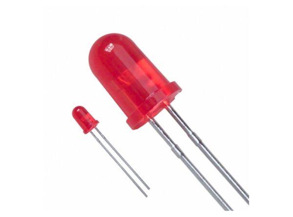 led قرمز مات 5mm 1 ارکید استور