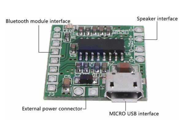 آمپلی فایر 2x3w کلاس d تراشه pam8403 با ورودی micro usb 1 ارکید استور
