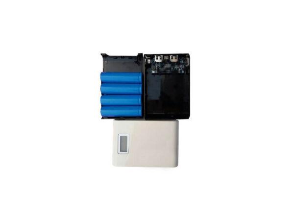 پاوربانک 12000mah دو خروجی usb به همراه نمایشگر و برد 4 باتری ارکید استور