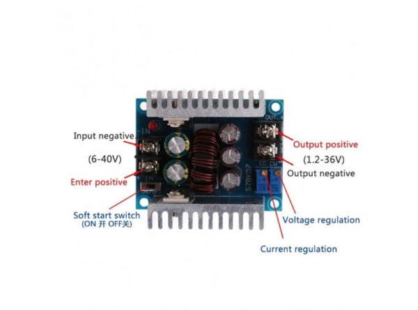 کاهنده 20 آمپری dc dc با کنترل ولتاژ و جریان 300w 7 ارکید استور
