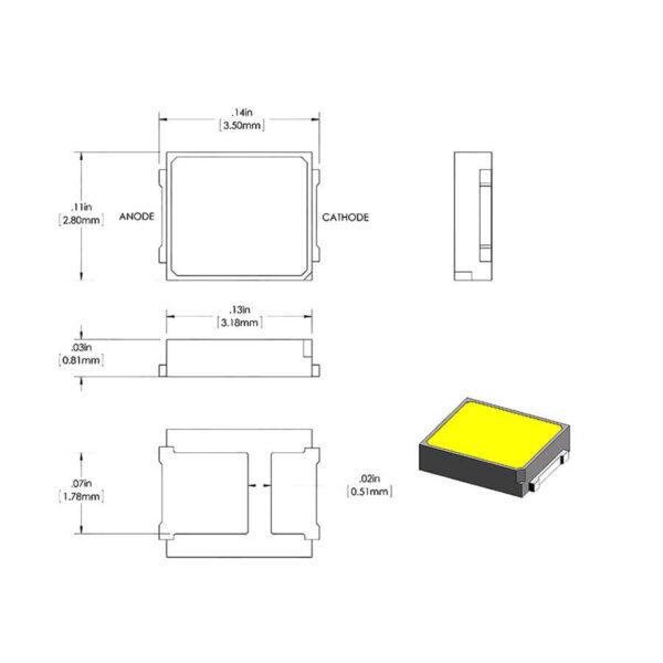 SMD LED سفید آفتابی 2 ارکید استور