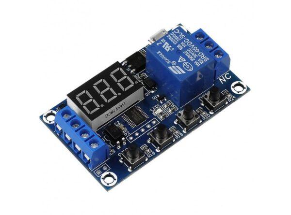 تایمر 30 6 ولت قابل تنظیم همراه با رله و نمایشگر مدل jz 801 2 ارکید استور