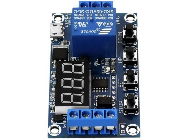 تایمر 30 6 ولت قابل تنظیم همراه با رله و نمایشگر مدل jz 801 4 ارکید استور