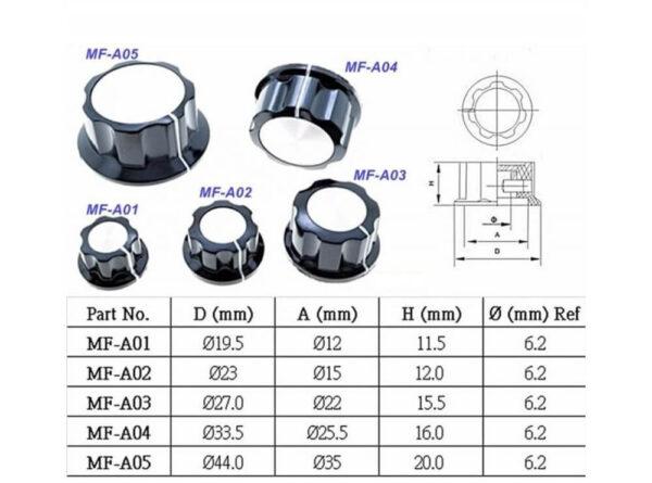 6ولوم فلزی mf a03 ارکید استور