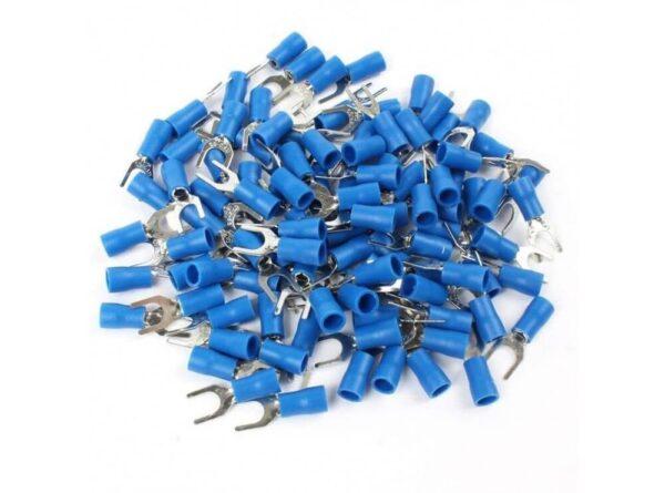 دوشاخ روکش دار آبی مدل sv2 4 بسته100 تایی 2 ارکید استور