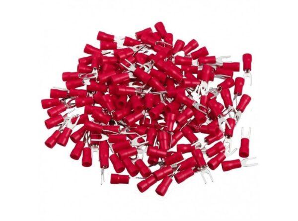 دوشاخ روکش دار قرمز مدل sv1 3 بسته100 تایی 1 ارکید استور