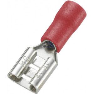 کولری نیم روکش مادگی قرمز سایز 63 مدل fdd125 250 بسته100 تایی ارکید استور